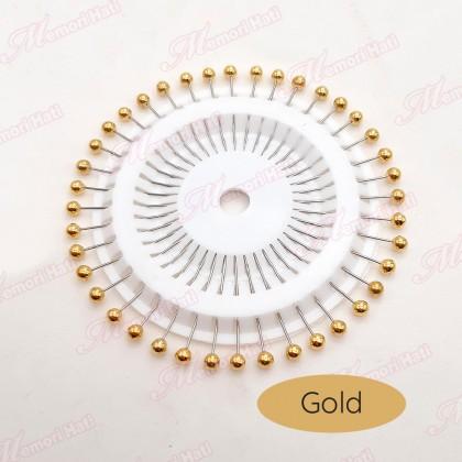 Natasia Metallic Pearl Pins / Jarum Peniti Mutiara / 4 warna tersedia