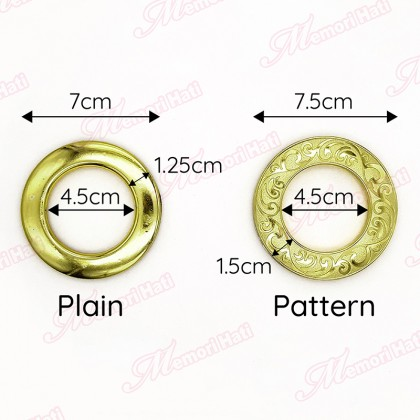 10pcs Curtain Eyelet Ring Cap / Gelang Cincin Langsir